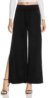 Aqua Velvet Side Slit Wide Leg Pants - 100% Exclusive