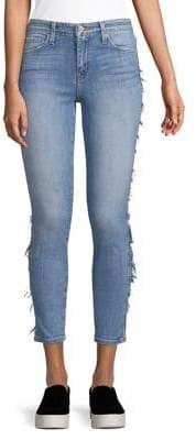 Flying Monkey Straight Cropped Skinny Jeans