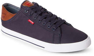 Levi's Navy Jackson Canvas Low-Top Sneakers