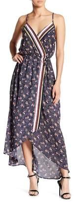 Spirit of Grace Mixed Print Hi-Lo Maxi Dress