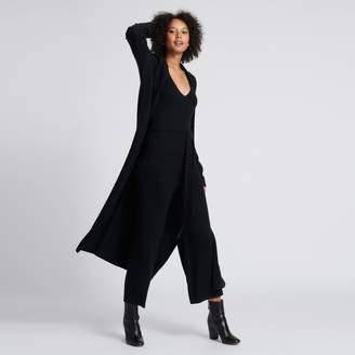 Naadam Long Cardigan Robe Black