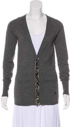 Burberry Embellished Knit Cardigan