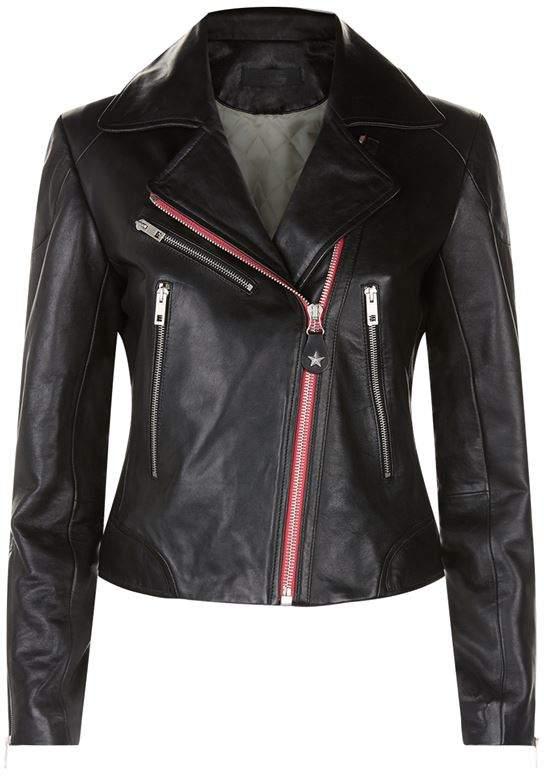 Griffin Contrast Biker Jacket