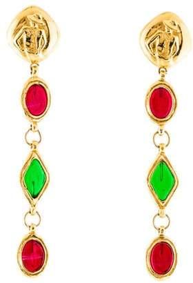 c02994ac32e2aa Chanel Gripoix Mademoiselle Drop Earrings