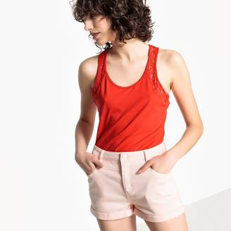 Vero Moda Vest Top with Lacy Racer Back