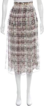 Theyskens' Theory Printed Silk Skirt
