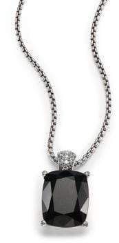 John Hardy Classic Chain Batu Diamond, Black Onyx& Sterling Silver Pendant Necklace
