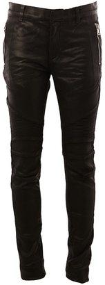 Balmain biker jeans $892.51 thestylecure.com