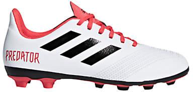 Children's Predator Tango 18.4 Football Boots, White/Red