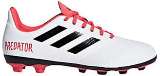adidas Children's Predator Tango 18.4 Football Boots, White/Red