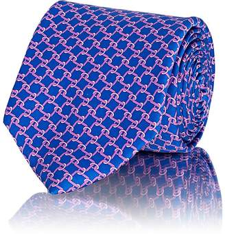 Barneys New York Men's Chain-Link-Pattern Silk Satin Necktie
