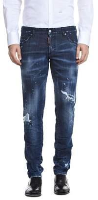 DSQUARED2 Dark Slash Slim Fit Jeans in Blue