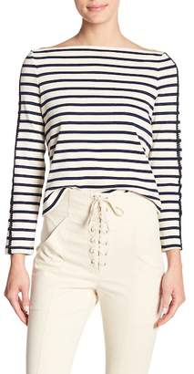 A.L.C. Colette Striped Boatneck Shirt
