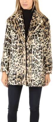 Frame Denim Cheetah Faux Fur Coat