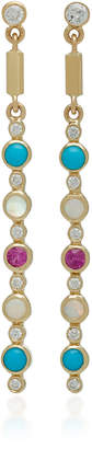 Ilana Ariel Dot Matchstick 14K Gold Multi-Stone Earrings