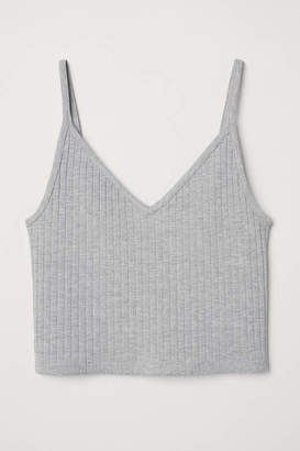 H&M Short Jersey Camisole Top - Black - Women