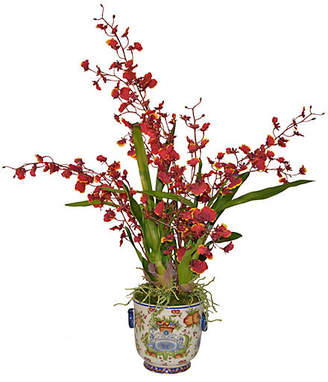 """18"""" Oncidium in Italian Planter - Faux - The French Bee"""