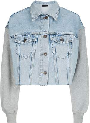 AllSaints Anders Cropped Denim Jacket