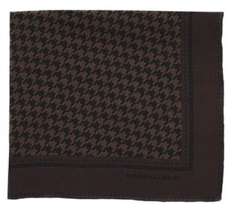hook + ALBERT Houndstooth Silk Pocket Square