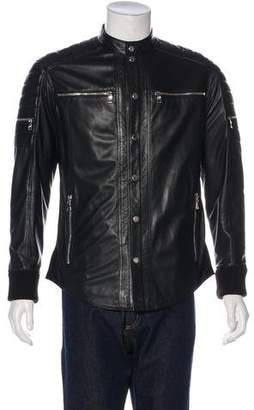 Balmain Leather Shirt Jacket