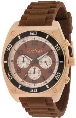Bulova Caravelle New York Chronograph Rubber Mens Watch 45A114