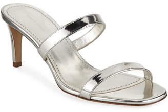 Mansur Gavriel Skinny Double-Strap Sandals