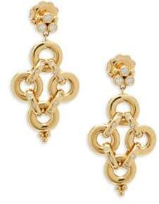 Temple St. Clair Vintage Diamond and 18K Gold Drop Earrings