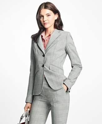 Brooks Brothers Stretch-Wool Glen Plaid Blazer