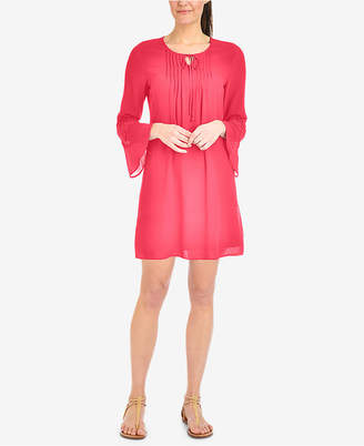 NY Collection Lace-Trim Shift Dress