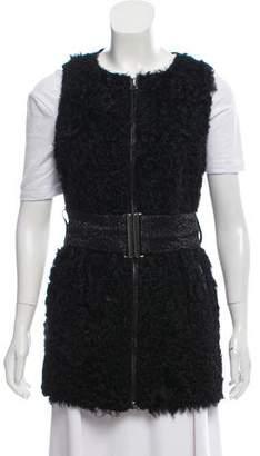 Pierre Balmain Virgin Wool Persian Lamb Vest
