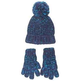 accsa Kid Boy Nep Warm Rib Knit fun cozy set Hat and Gloves Age 3-5
