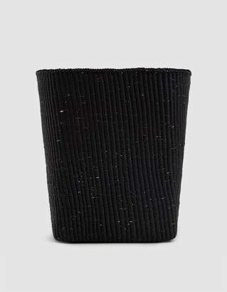 Hawkins New York Tall Woven Basket in Black