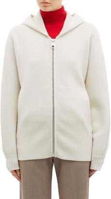Chloé Logo back hooded cashmere cardigan