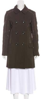 Louis Vuitton Double-Breasted Knee-Length Coat