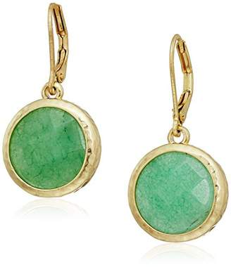 lonna & lilly Gold Tine Round Drop Earrings