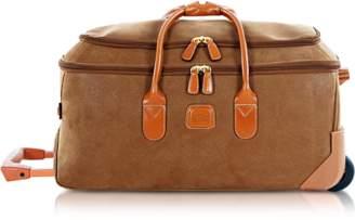 Bric's Life - Medium Camel Micro Suede Rolling Duffle Bag