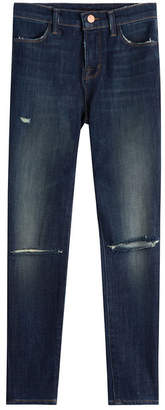 J Brand Skinny Jeans with Distressed Detail