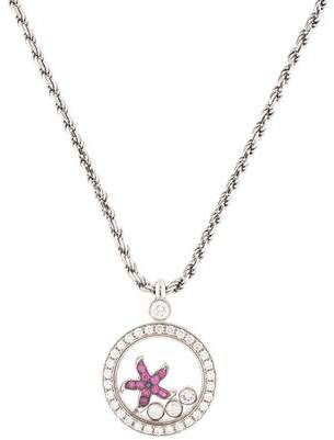 Chopard 18K Diamond & Ruby Starfish Pendant Necklace