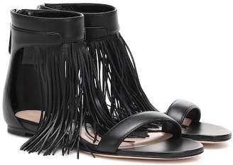 Alexander McQueen Fringed leather sandals