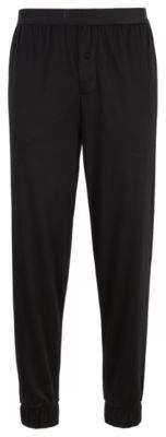 BOSS Cuffed pyjama bottoms in a cotton-modal blend