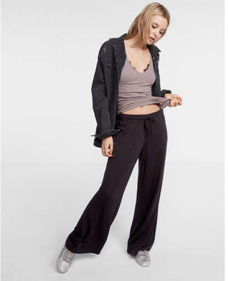 Express one eleven high waisted wide leg drawstring sweatpants