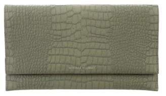 Rebecca Minkoff Embossed Leather Fold-Over Clutch