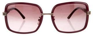 Chopard Square Embellished Sunglasses