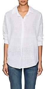 A Shirt Thing Women's Oversized Cotton Eyelet Blouse - White Size 1