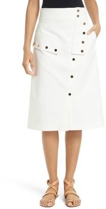 Women's Tibi Snap Front A-Line Skirt $385 thestylecure.com
