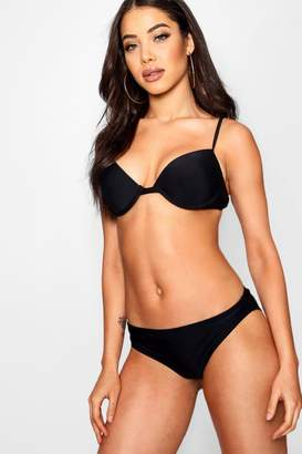 boohoo Padded Push Up Plunge Underwired Bikini