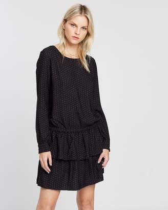 Maison Scotch Ruffled Dress with Dropped Waist