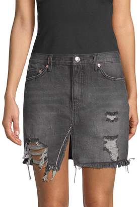 Free People Women's Relaxed & Destroyed Skirt