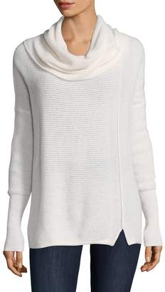 White + Warren Women's Rick Rack Cashmere Sweater