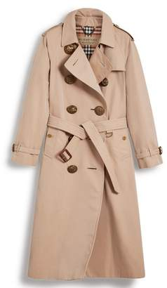 Burberry Eastheath Bird Button Cotton Trench Coat